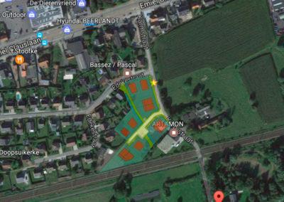 astene-karmstraat-verkaveling-inplantingGoogleMap