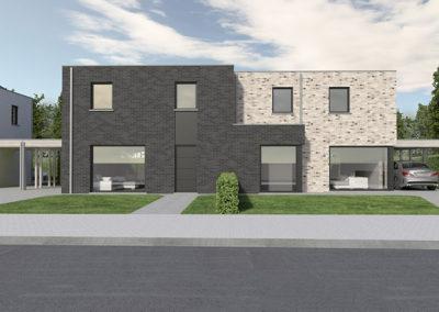 kaprijek-zuidstraat-loten-64-65-modern-plat-dak-straatkant